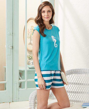 Women's Coastal Theme Pajama Sets