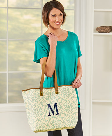 Monogram Canvas Tote Bags
