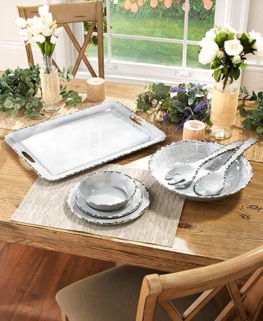 Gray Melamine Dinnerware Collection