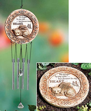 Pet Memorial Wind Chime and Steppingstone Sets