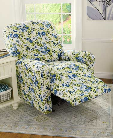 Floral Jersey Stretch Recliner Covers