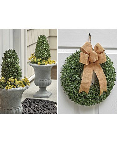 Faux Boxwood Stake or Wreath