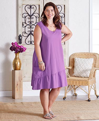 Women's Plus Ruffle Hem Dresses