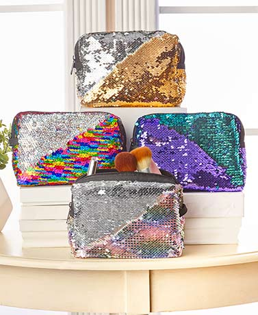 Reversible Mermaid Sequin Cosmetic Bags