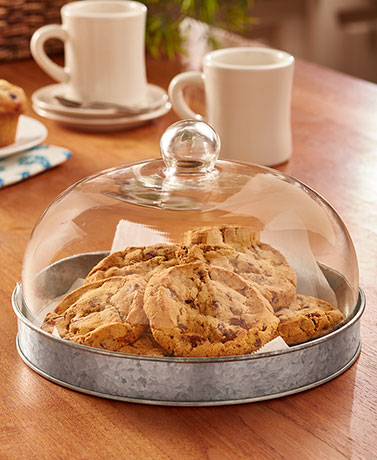Glass Domed Serving Plates