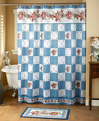 Hearts and Stars Country Blue Bath Collection