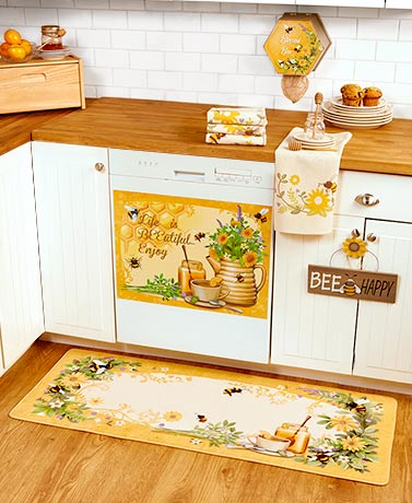 Honey Bee Kitchen Decor Collection