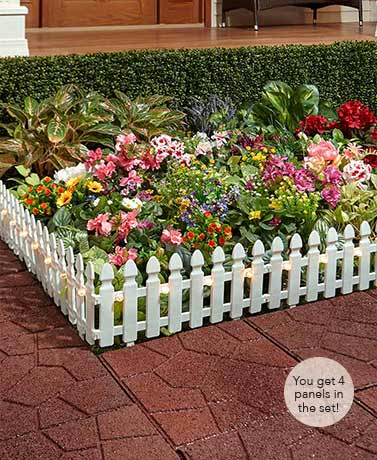 6-Ft. Solar Border Picket Fence Panels