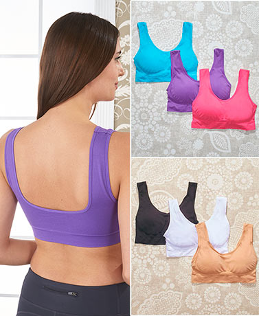 Sets of 3 Seamless Comfort Bras