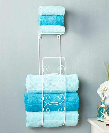 Wall Mounted Towel Organizer - White