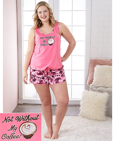 Women's Plus Shorty Pajama Sets