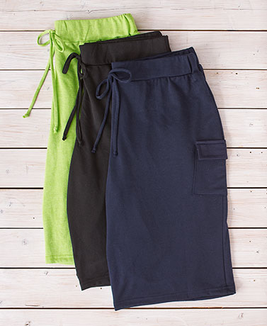 Women's Set of 3 Cargo Bermuda Shorts