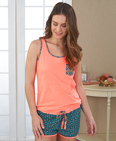 Knit Tank and Shorts Sleep Sets