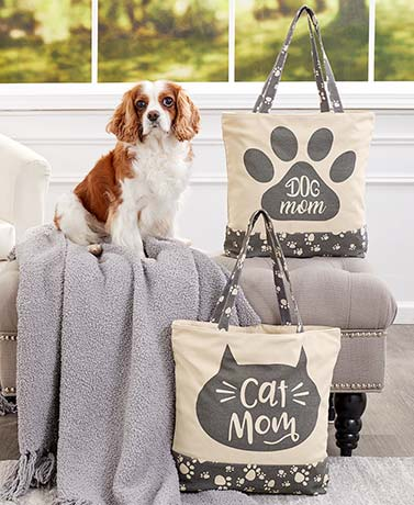 Pet Mom or Grandma Tote Bags