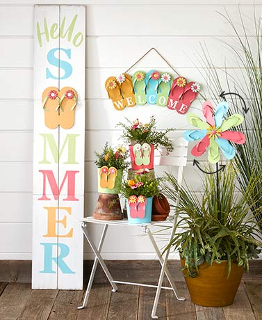Flip-Flop Garden Decor Collection