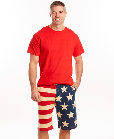 American Flag Loungewear - Shorts