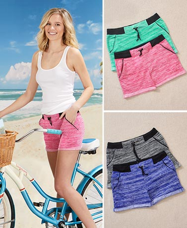 Sets of 2 Soft French Terry Shorts
