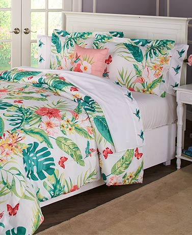 Hibiscus Garden Comforter or Sheet Sets