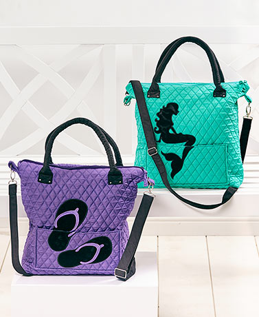 Quilted Silhouette Tote Bags