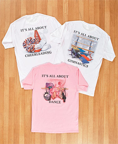 Cheer, Dance or Gymnastics T-Shirts