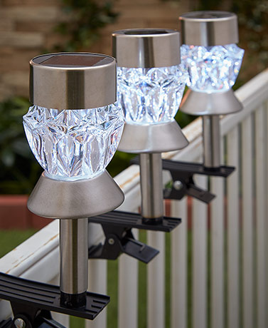 Sets of 3 Solar Clip Lights
