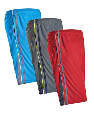 Men's Set of 3 Mesh Active Shorts - Bright
