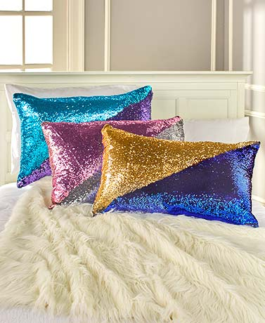 Mermaid Reversible Sequin Bed Pillow Covers