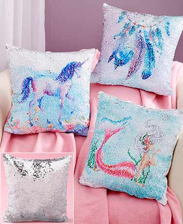 Reversible Sequin Pillows