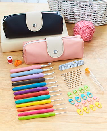 40-Pc. Essential Crochet Set with Case