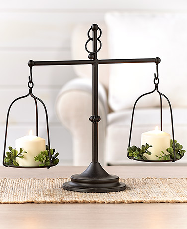 Decorative Farmhouse Scale Candleholder
