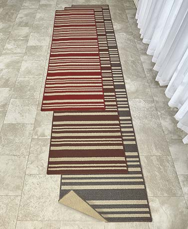 Extra Wide Extra Long Striped Runners