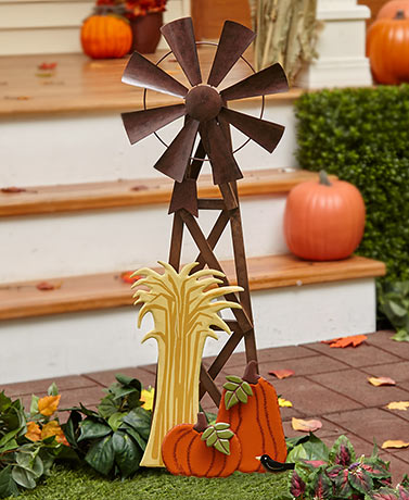 Harvest Windmill Spinner Stake