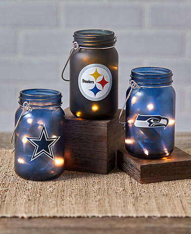 NFL Lighted Mason Jars