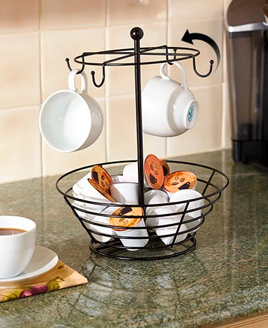 Coffee Pod and Cup Carousel