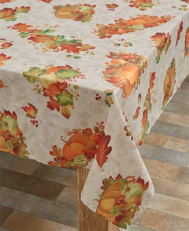 Harvest Splendor Seasonal Fabric Tablecloths