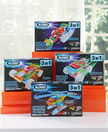 Blokko™ 3-In-1 Lighted Building Block Sets