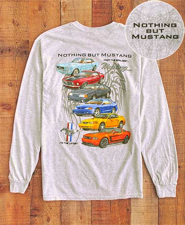 Long Sleeve Nostalgic Ford® Mustang T-Shirts