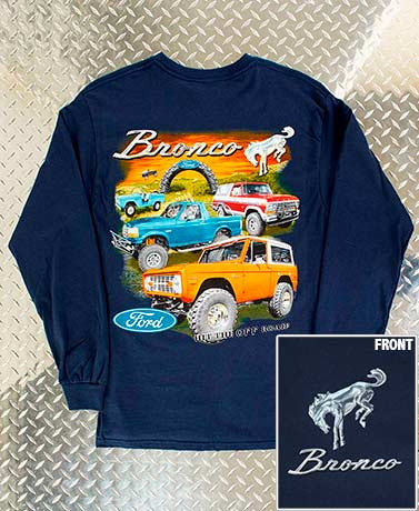 Long Sleeve Nostalgic Ford® Bronco T-Shirts