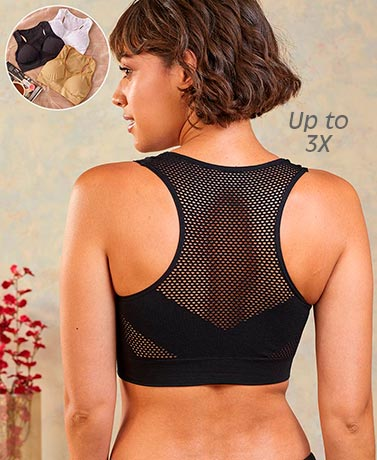 Set of 3 Seamless Cool Bras