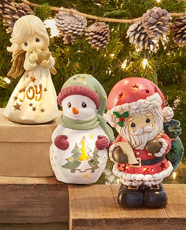 Lighted Holiday Precious Moments™ Figurines