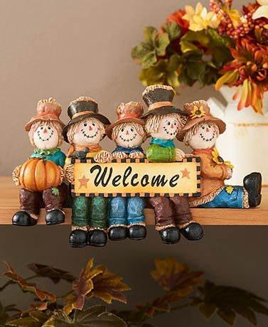 Scarecrow Holiday Welcome Plaque