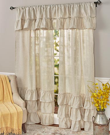 Ruffled Burlap Curtain Collection