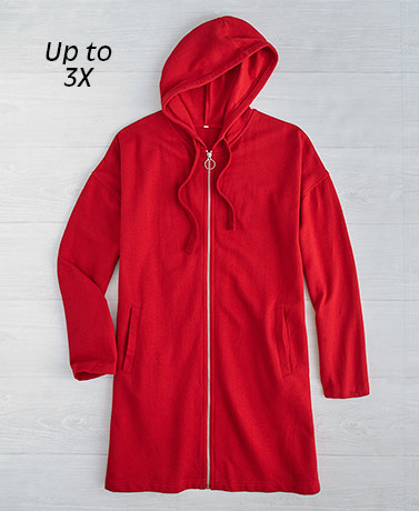 Extended Size Loose-Fit Hooded Jackets