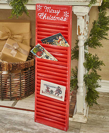 Shutter Christmas Card Holders