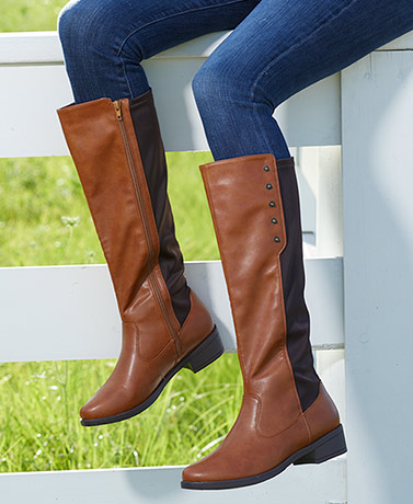 Cognac Stretch Gore Boots with Memory Foam
