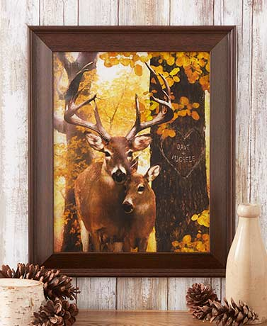 Framed Personalized Wildlife Deer Prints