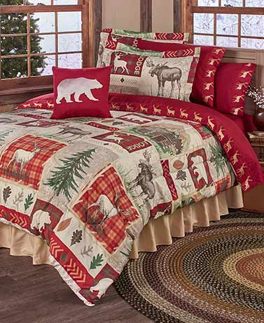 Lodge Collage Comforter or Sheet Sets