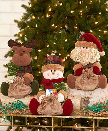 Plush Holiday Character with Gift Sack
