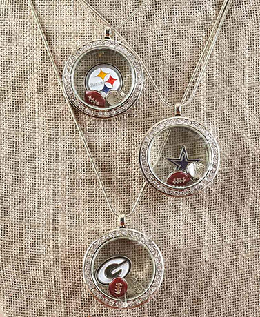NFL Floating Charm Locket Necklaces