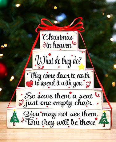 Christmas in Heaven Tabletop Plaque
